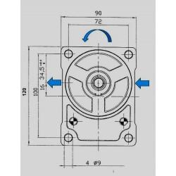 Pompe hydraulique A ENGRENAGE GR2 - GAUCHE - 8.0 CC - BRIDE BOSCH