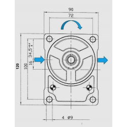 Pompe hydraulique A ENGRENAGE GR2 - DROITE - 16.0 CC - BRIDE BOSCH