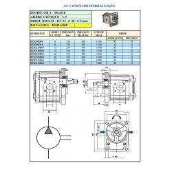 Pompe hydraulique A ENGRENAGE GR2 - DROITE - 06.0 CC - BRIDE BOSCHBTD2060D04 GR2 - BOSCH - C80 - CONE 1/5 - BRIDE 23  134,40€