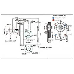 Pompe hydraulique Bosch - DROITE - 08.0 CC - BRIDE BOSCH1L08D55F GR2 - BOSCH - C50 - CONE 1/5 - BRIDE 55 235,20€