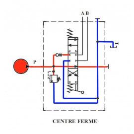 Distributeurs hydrauliques 60 L/mn - D.E - 1 L - 1/2 BSP - 315 B avec Limiteur PressionYFM551121PDE Distributeurs 60 L/mn - 1...