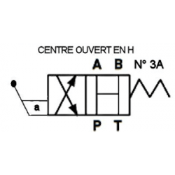 Distributeur a levier - NG 6 - 4-2 CENTRE OUVERT EN H - N 3AKVNG6M3AH Tiroir N3A - Centre ouvert en H 110,40€