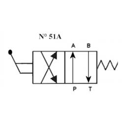 Distributeur a levier - NG 6 - 4-2 CENTRE P vers A et B vers T - N 51A