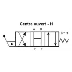 Distributeur a levier - NG 6 - 4-3 - CENTRE OUVERT EN H - N3