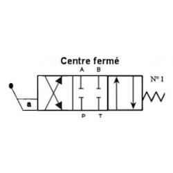 Distributeur a levier - NG 6 - 4-3 - CENTRE FERME - N1KVNG6M1H Tiroir N1 - centre fermé 95,04€