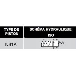 electrodistributeur 220 VAC monostable - NG6 - 3/2 - P vers A - B et T Fermé - N41A.KVNG641A220CAH  78,72€