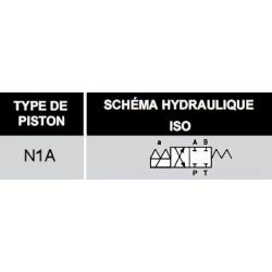 electrodistributeur 12 VDC monostable - NG6 - 4/2 CENTRE FERME - N1A. KVNG61A12CCH  78,72€