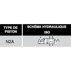 electro distributeur hydraulique monostable - NG6 - 4/2 P sur T - A/B FERME - 12 VDC - N 2A