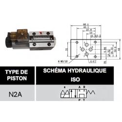 electro distributeur hydraulique monostable - NG6 - 4/2 P sur T - A/B FERME - 220 VAC - N 2A