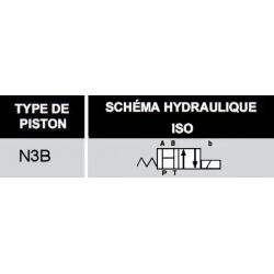 electro distributeur hydraulique monostable - NG6 - 4/2 CENTRE OUVERT - en H - 220 VAC N3B.