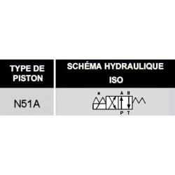 electrodistributeur 24 VDC monostable - NG6 - 4-2 - P sur A - B sur T - N 51A.KVNG651A24CCH  72,00€