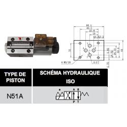 electrodistributeur 110 VAC monostable - NG6 - 4-2 - P sur A - B sur T - N51A.