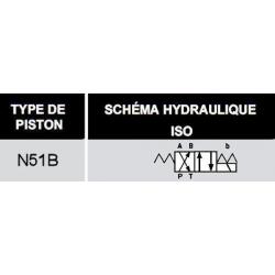electrodistributeur 24 VDC monostable - NG6 - 4-2 - P sur B - A sur T - N51B. KVNG651B24CCH  78,72€