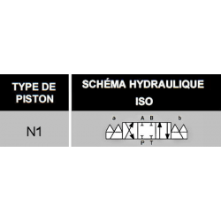 electrodistributeur 220 VAC monostable - NG6 - 4/3 CENTRE FERME - N1.KVNG61220CAH  91,20€