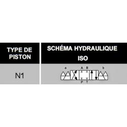 electrodistributeur 220 VAC monostable - NG6 - 4/3 CENTRE FERME - N1. KVNG61220CAH  91,20 €