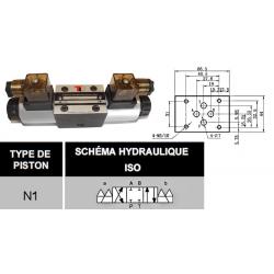 electro distributeur hydraulique monostable - NG6 - 4/3 CENTRE FERME - 24 VCC - N1