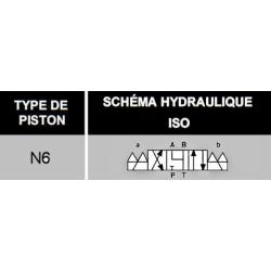 electro distributeur hydraulique monostable - NG6 - 4/3 - Y en A/B/T et P FERME - 24 VCC - N6