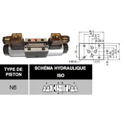 electrodistributeur 12 VCC monostable - NG6 - 4/3 - Y en A/B/T et P FERME - N6. KVNG6612CCH  91,20 €