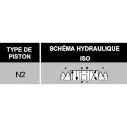 electro distributeur hydraulique monostable - NG6 - 4/3 CENTRE TANDEM - P sur T - 12 VCC - N2