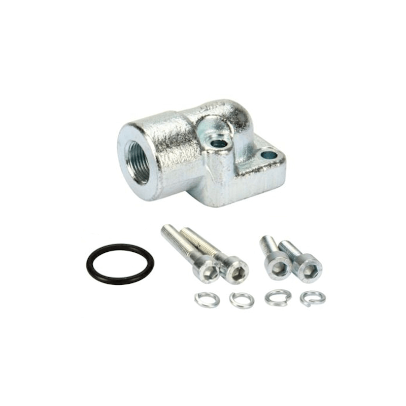 """Bride de pompe hydraulique pompe engrenages raccord hydraulique fileté 3//8/"""" 90°"""