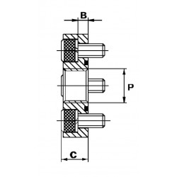 Bride 4 trous acier droite - DN 30 - FG 3/8 BSP - Type DF1DF06 Bride pour pompes 15,36€