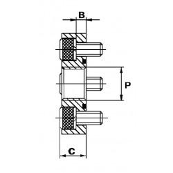 Bride acier droite - DN 30 - FG 3/8 BSP - Type DF - 4 trous