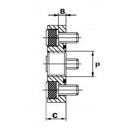 """Bride 4 trous acier droite - DN 62 - FG 1"""" BSP - Type DF"""