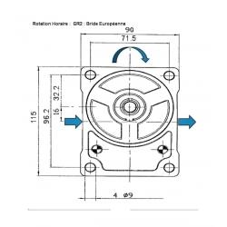 POMPE MULTIPLE-GR2 11/08 CC-CONE 1/8-CENTRAGE 36.5 - 1/2 BSP-HORAIRE
