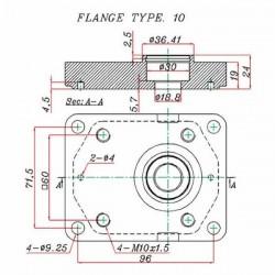 POMPE DOUBLE -GR2 11/06 CC-CONE 1/8-CENTRAGE 36.5 - 1/2 BSP-HORAIRE BD201106 Pompe double  393,60€