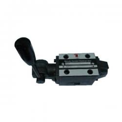 Distributeur a levier avec crantage - NG 6 - 3-2 CENTRE P vers A - B et T FERME - N 41A