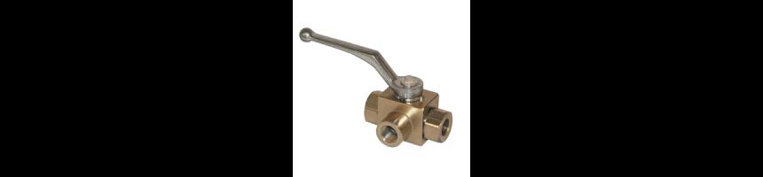 Robinet hydraulique 3 voies - Au Comptoir Hydraulique