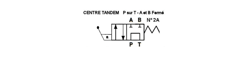 Levier distributeur hydraulique tiroir N2A - Au Comptoir Hydraulique