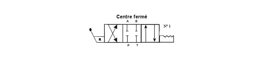 Tiroir N1A cranté centre fermé - Au Comptoir Hydraulique