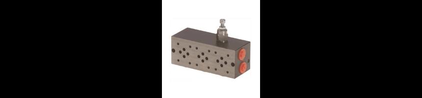 Embase serie/tandem - avec limiteur pression