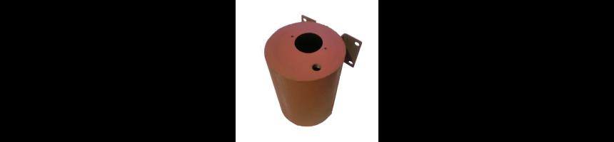 Réservoirs cylindrique hydraulique non équipé pour filtre, bouchon